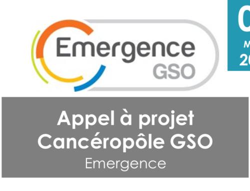 "Appel à projets Cancéropôle GSO ""Emergence"""