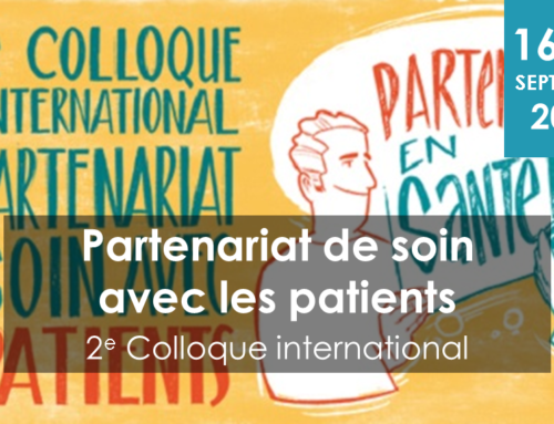 "2e colloque international ""partenariat de soins"""