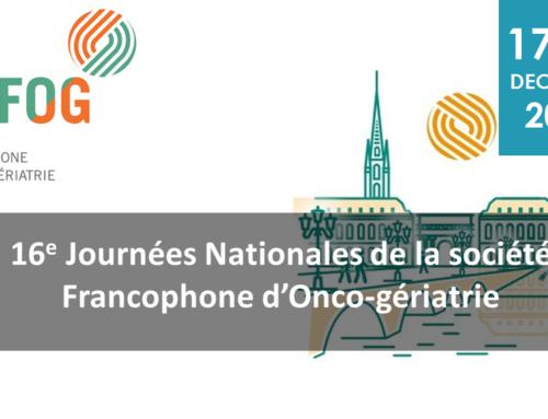 16e journées nationales de la société francophone d'oncogériatrie