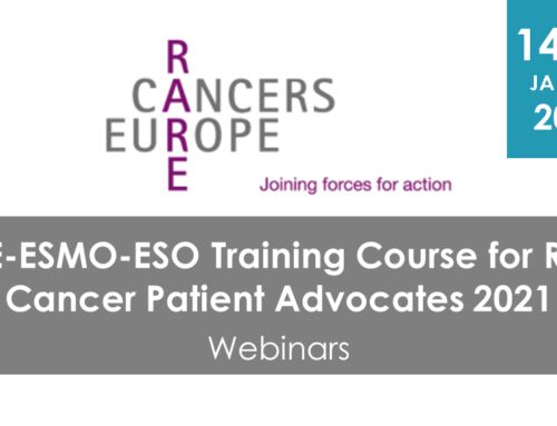 RCE-ESMO-ESO Training Course for Rare Cancer Patient Advocates 2021