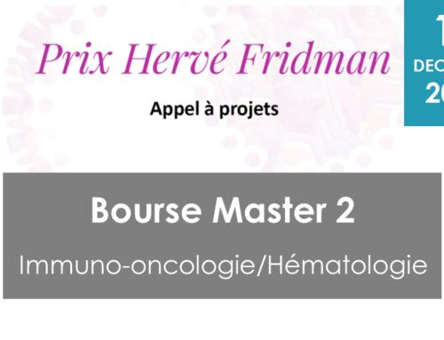 Bourse M2 Immuno-oncologie/ Hématologie